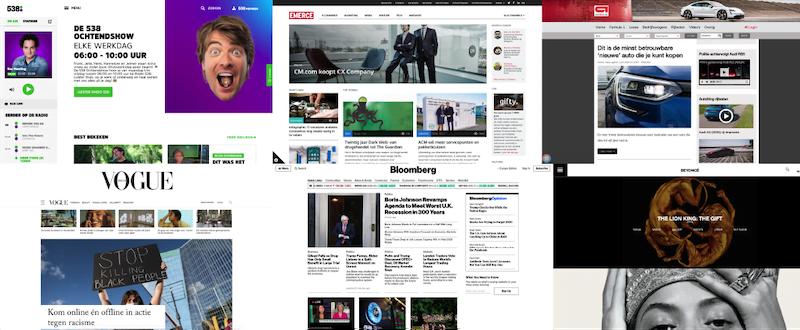 Voorbeelden van WordPress websites.