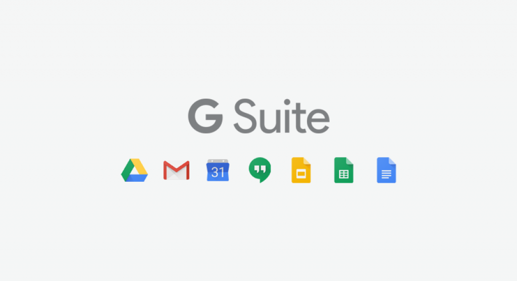 G Suite with Google app icons