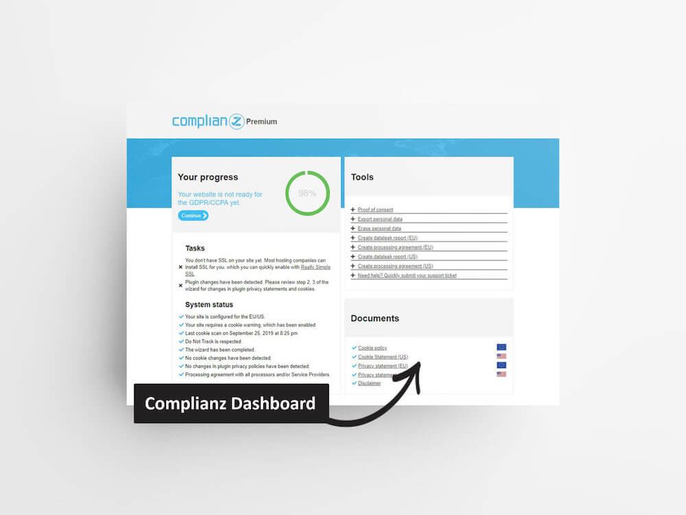Complianz Dashboard