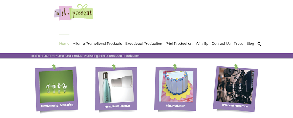 In the Present website