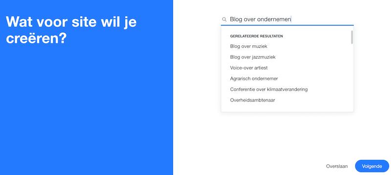 Wix website maken via AI