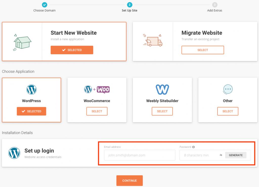 Installeer WordPress op SiteGround.