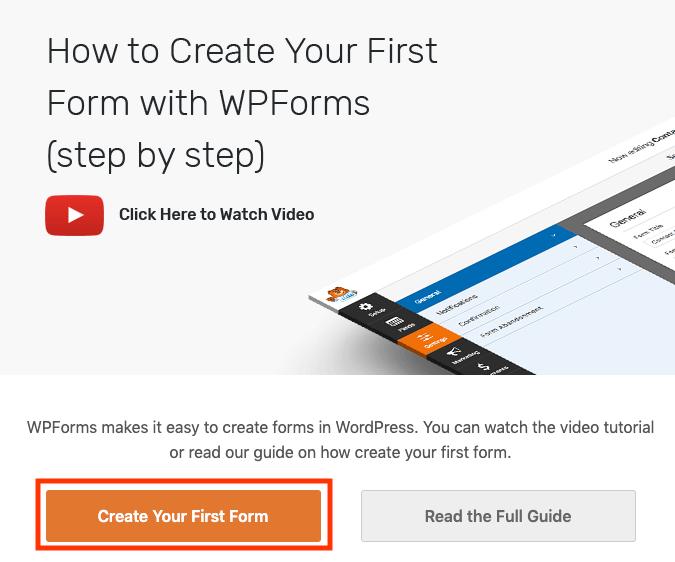WPForms nieuw formulier maken.
