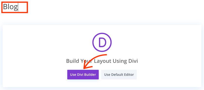 Gebruik de Divi builder.