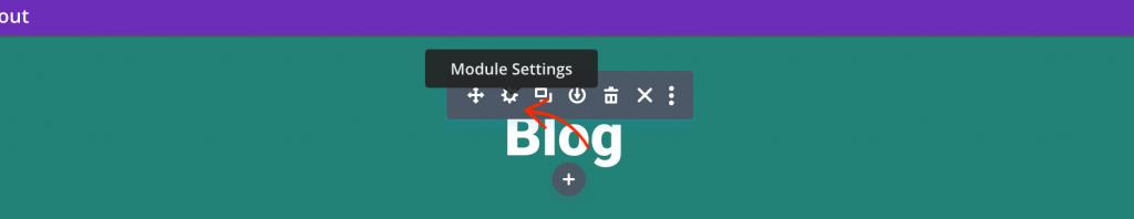 Divi module settings.