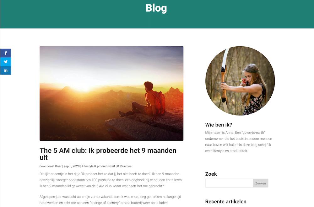 Maak een zelfontworpen WordPress blog met Divi