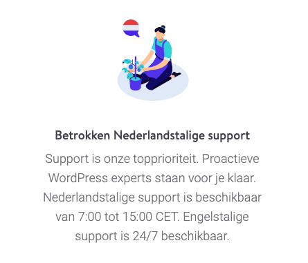 Nederlandse support bij Kinsta.