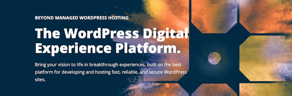 Voorpagine van managed WordPress hosting provider.