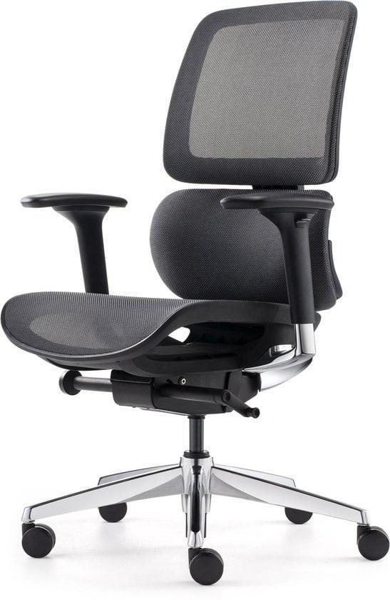 BenS 918-Synchro-4 antraciet Luxe ergonomische bureaustoel