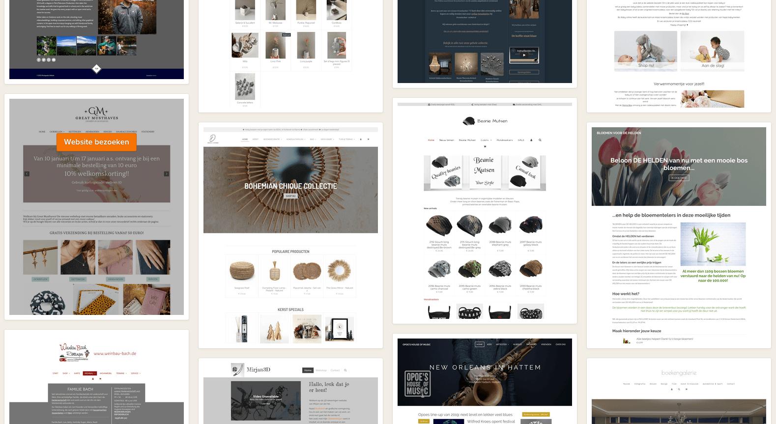 Voorbeelden van webshops van Jouwweb