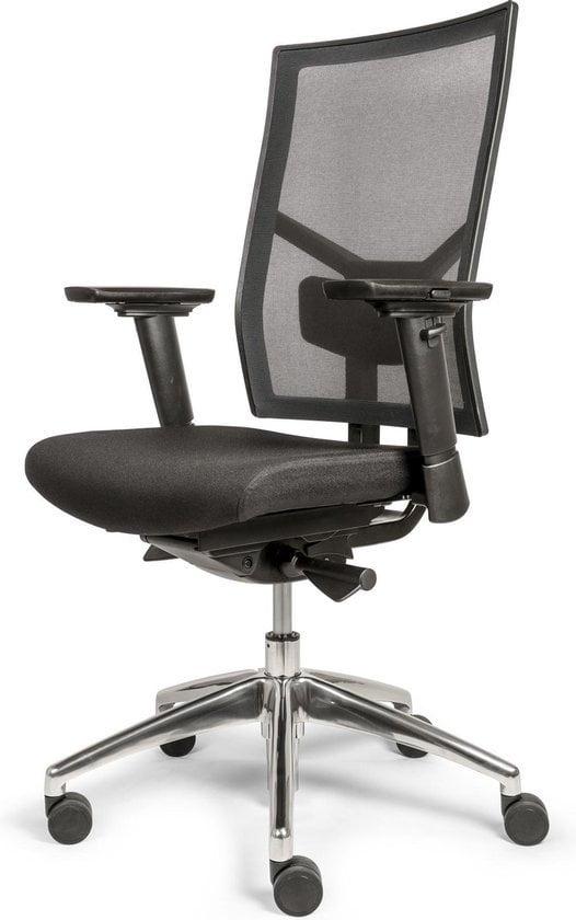 OVVIS Tyson Mesh - Ergonomische Bureaustoel met Aluminium Voet - Zwart