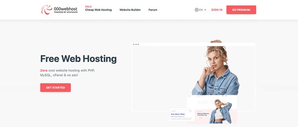 000webhosting voor gratis hosting