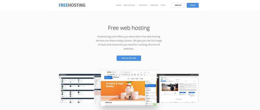 Freehosting voor gratis webhosting