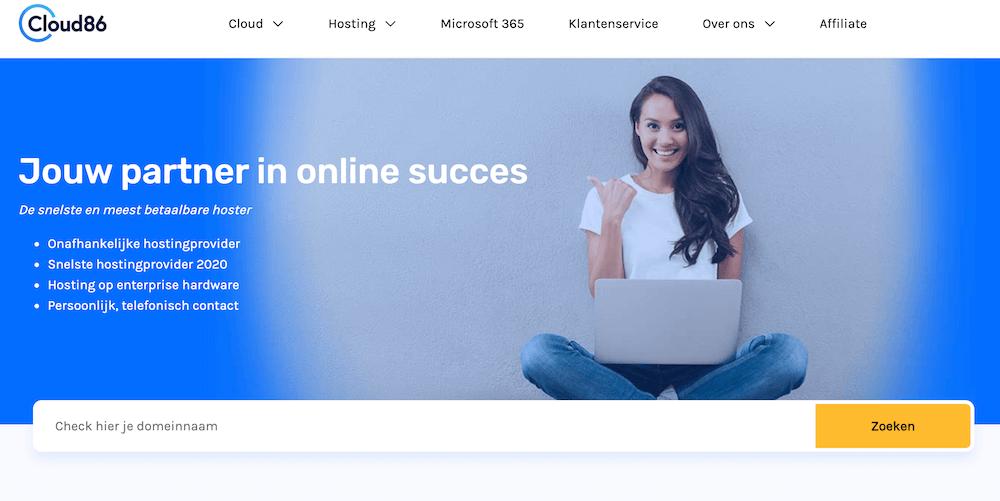 Cloud86 homepage