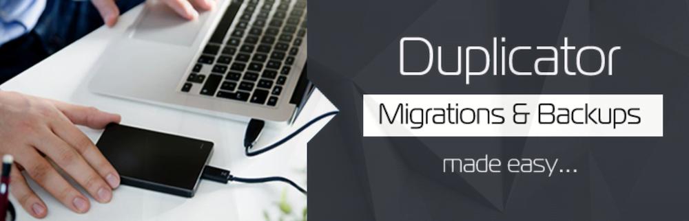 Duplicator WordPress backup