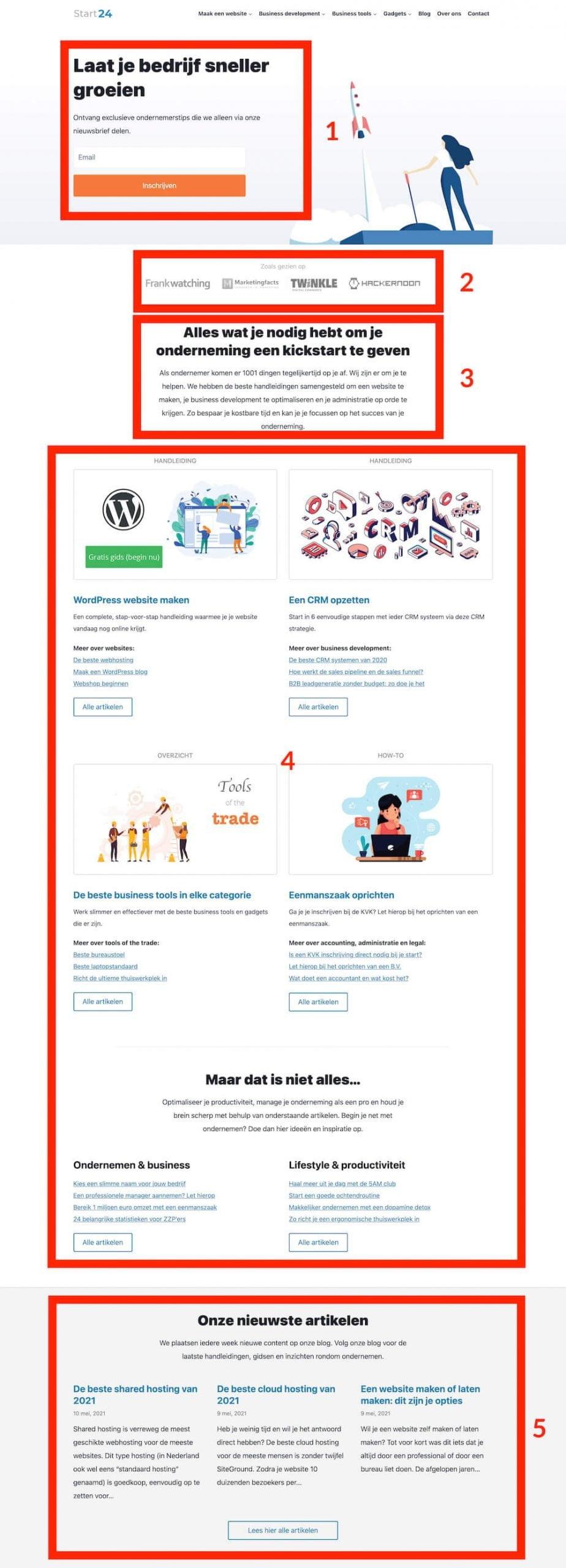 Start24 homepage