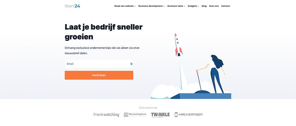 Start24 is een content website