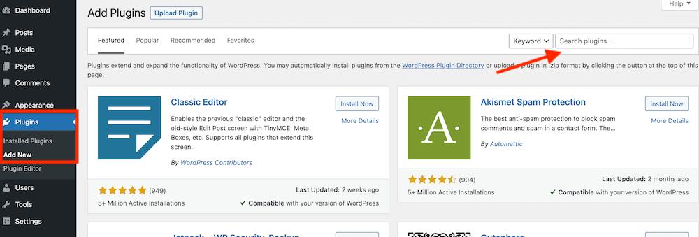 Plugin toevoegen in WordPress