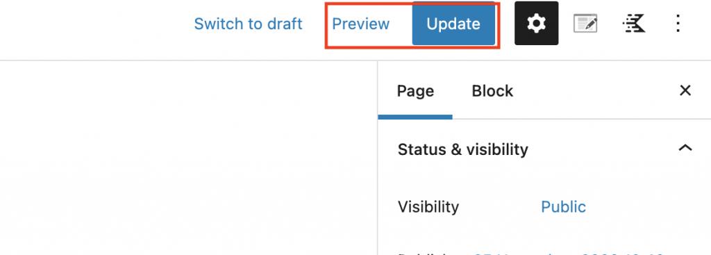 WordPress updaten en voorbeeld