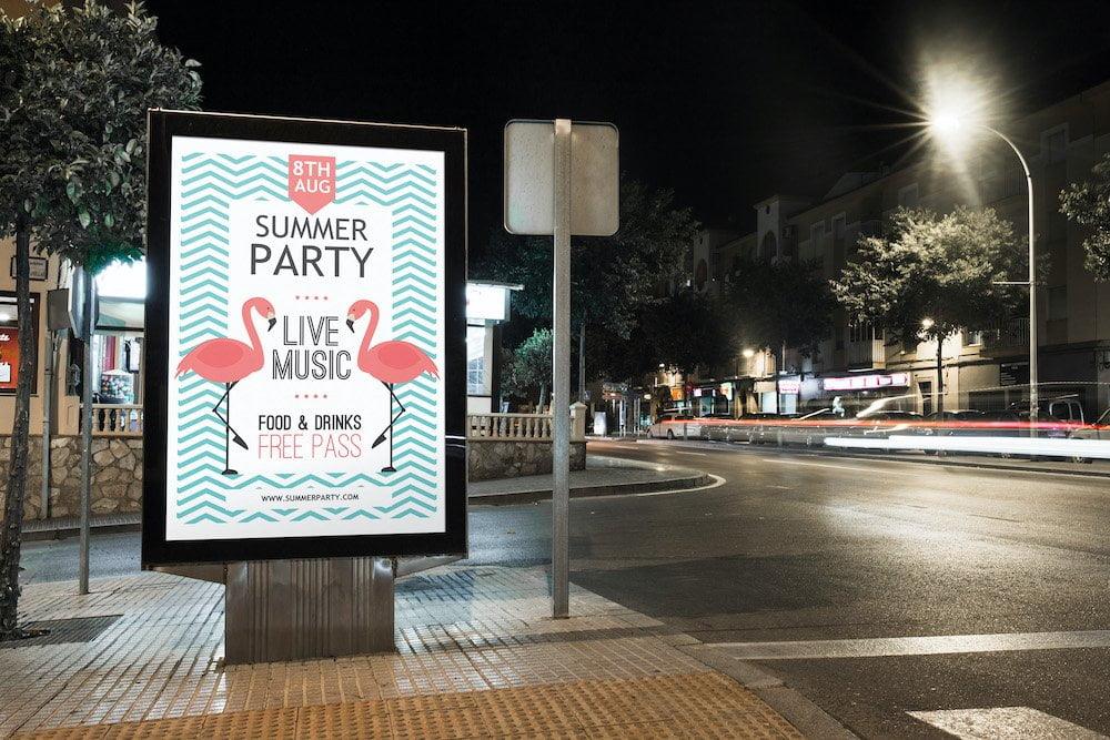 Advertentie op straat