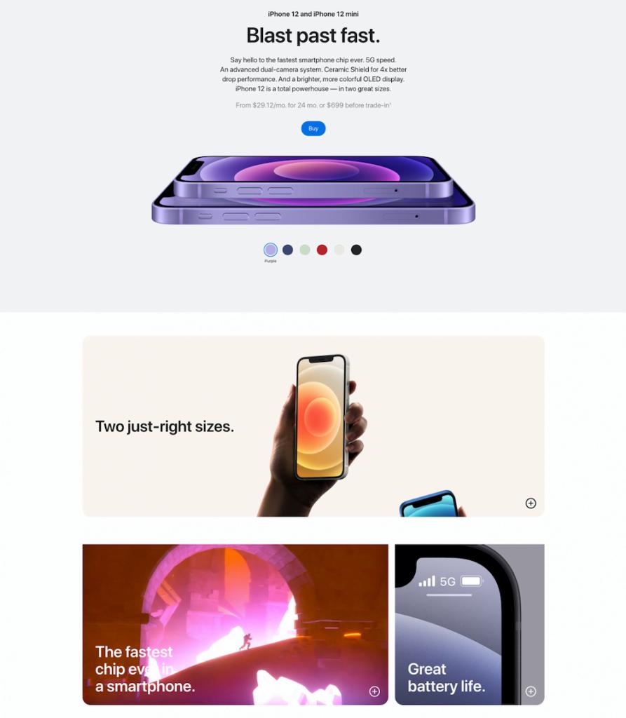 Apple sales pagina