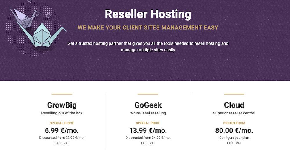SiteGround reseller hosting