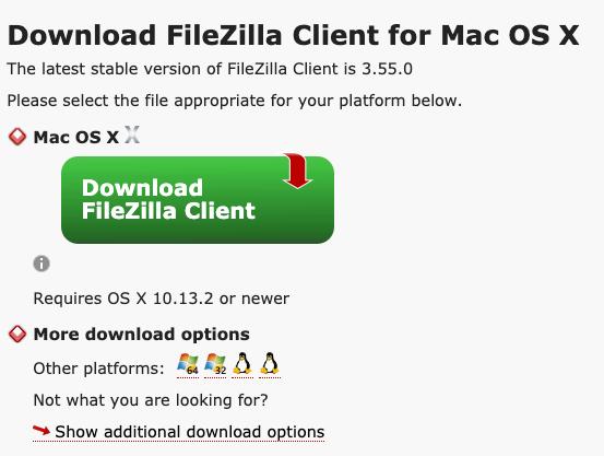 Download Filezilla om WordPress te installeren via FTP