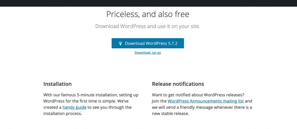 Download altijd de laatste versie van WordPress voor installatie