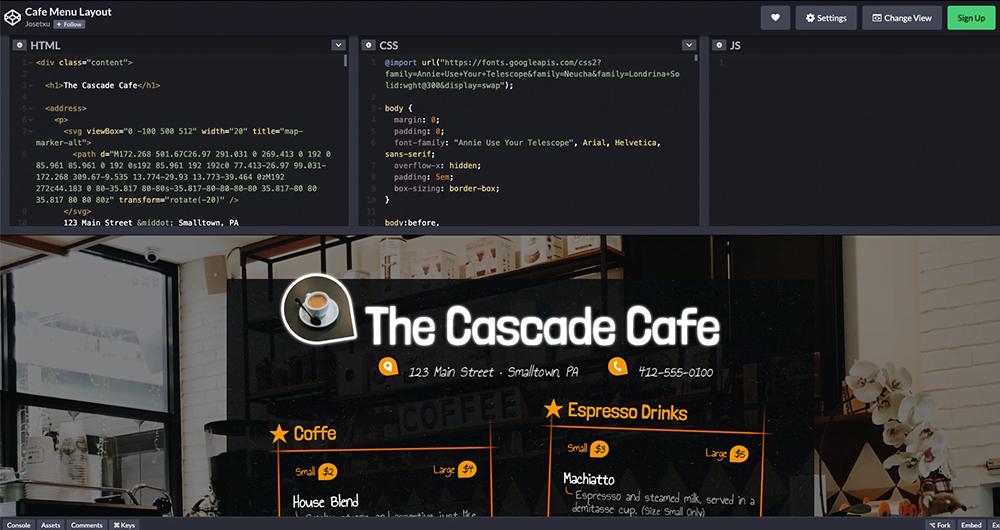 Met Codepen kan je spelen met projecten van anderen