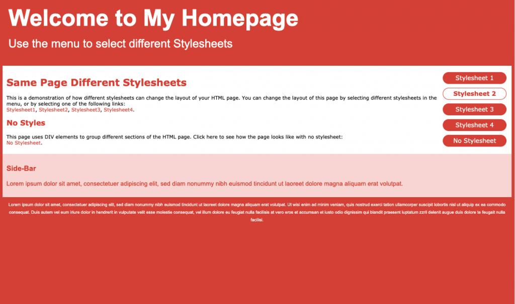 HTML pagina met CSS