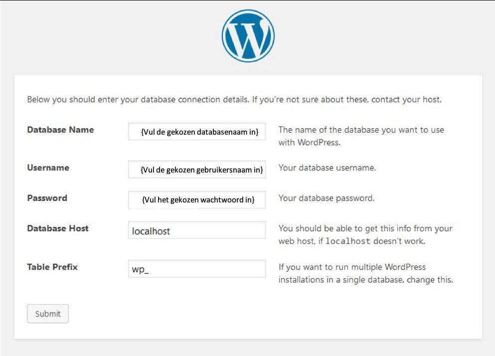 WordPress configuratie en installatie