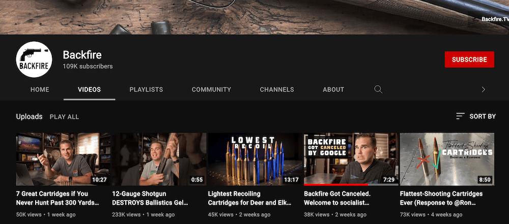 Backfire.tv YouTube channel