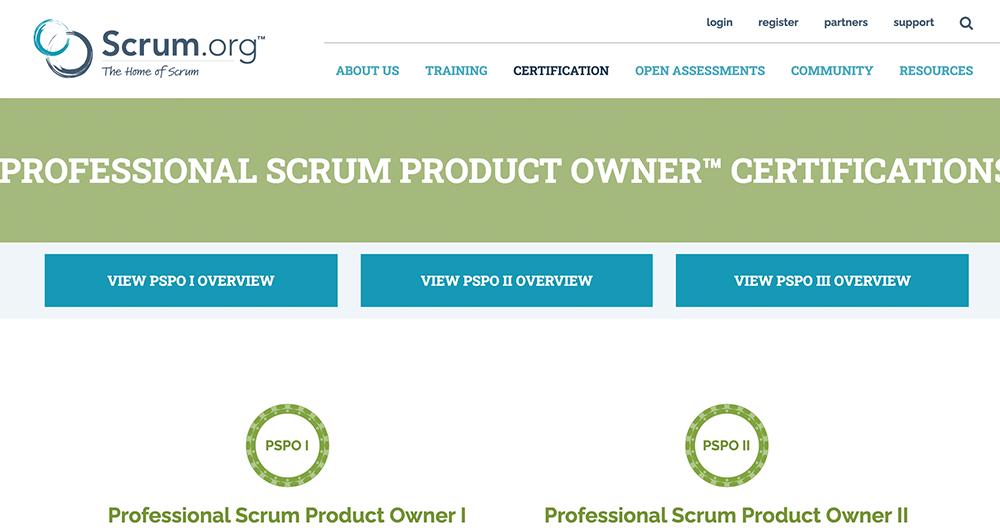 scrum.org voor product owner certificeringen